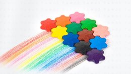 painting puzzles Australia - Creative children's large environmental crayons Early education puzzle brush 12 color suction card snowflake modeling crayons 5.5*4cm