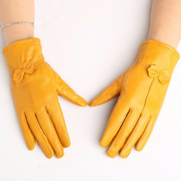 $enCountryForm.capitalKeyWord Australia - Leather Glove for Womens New Arrival 100% High Quality Pure Classical Style Sheepskin Gloves Winter Mittens Free Shipping