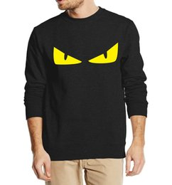 Angry clothes online shopping - cartroon angry eyes autumn winter new fashion hoodies men sweatshirt streetwear tracksuit harajuku clothing