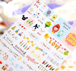 $enCountryForm.capitalKeyWord NZ - Diary Cartoon Adhesive Stickers For Kids Students Transparent DIY Stickers Tapes Girls Draw Life Stickers Office School Supplies