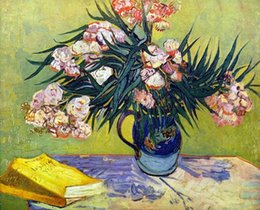 Life Size Figures Australia - Still Life with Oleander by Vincent Van Gogh Handpainted & HD Printed Art Oil Painting High Quality Canvas Home Wall Decor Multi Size l28