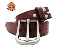 Nova Moda Cintos De Couro De Fivela De Zinco Couro Genuíno Dos Homens Ocidental Da Cintura Cinto de alta qualidade pulseira de couro de grão integral masculino cinto de couro do quadril em Promoção