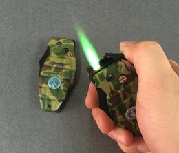 China Multifunctional grenade modeling lighter with a knife windproof metal gas lighter suppliers