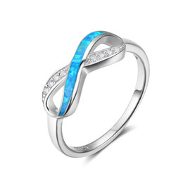 infinite rings NZ - new ring design fashion Opal 925 Sterling Silver Forever Love Infinity Infinite Knot lasies finger ring modern jewelry