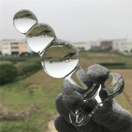 Discount crystal glass dildo anal plug - Transparent crystal glass anal beads,g spot glass anal plugs,butt plug anal dildo,anal sex toys for women men,erotic toy
