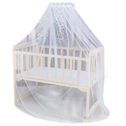 Discount toddler mosquito net - Baby Bedding Crib Mosquito Net Portable Size Round Toddler Baby Bed Mosquito Mesh Hung Dome Curtain Net Summer NEW SALE