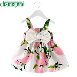 $enCountryForm.capitalKeyWord UK - Girls Dresses Baby Girl Clothes Lemon Printed Infant Outfit Sleeveless Princess Gallus Dress ap0322-2