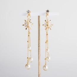 $enCountryForm.capitalKeyWord UK - Bridal Earrings Gold long ear clip ear accessories wedding gauze dress dinner accessories