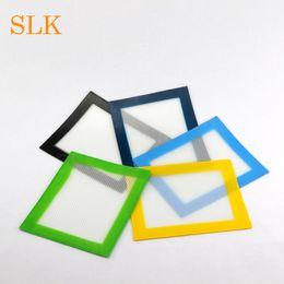 concentrate pad 2019 - Glass fiber food grade silicone 14*11.5 cm heat resistant concentrate bho wax slick oil square shape non stick silicone