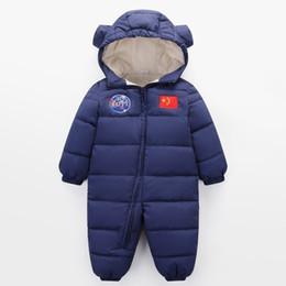 43fe9fdf2a2054 2018 neue Winter Overall Baby verdicken Plus Samt Schneeanzug Schnee Tragen  Mäntel Junge Warme Strampler nach unten Baumwolle Mädchen Kleidung Body 18  Mt
