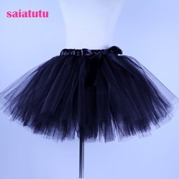 Red White Blue Tutus Australia - 2018 NEW black tulle toddler children baby costume ball gown party dance wedding short pettiskirt tutu girl kids skirt