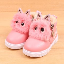 $enCountryForm.capitalKeyWord NZ - Infant Boys Girls Shoes Children Leather Waterproof Sneaker Warm Boot Kids Booties Toddler First Walker Soft Dropshipping