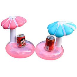 Wholesale Pool Toys Sale Australia - Hot sale mushroom Pool Float Inflatable Umbrella Tree Drink Cup Holder Float Mini Drink Pool Toy Outdoor Swimming Beach toy
