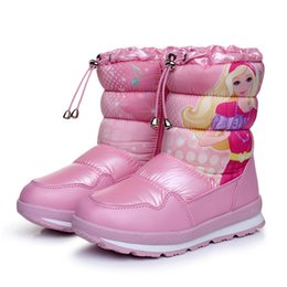 boots for kids 2018 New winter waterproof Children Girls beautiful snow  boots Cartoon Thicken Baby cotton princess gril shoes 6d184affa778
