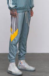 60e885bf93e3 Track Pants Mens 2018 Fashion Urban Jumpsuit Joggers Trousers Male Hip Hop  Stripe Cargo Pants Sweatpants High Quality Color Block Patchwork