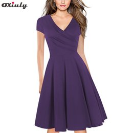 $enCountryForm.capitalKeyWord Canada - Women Solid Red Army Green Purple Gray Vintage Ruffle Summer Tunic Pinup Work Office Casual Party A Line Skater Blue Black Dress