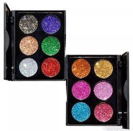$enCountryForm.capitalKeyWord UK - NEW HOT9 2018 6 Color Glitter Injections Pressed Glitters Single Eyeshadow Diamond Rainbow Make Up Cosmetic Eye shadow Magnet Palette