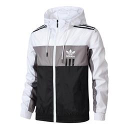 Wholesale letters jackets for sale – winter Brand Mens Jackets Fashion Windbreaker Pattern Letter Print Thin Coat Spring Autumn Long Sleeve Zipper Luxury Jackets Running Sportswear