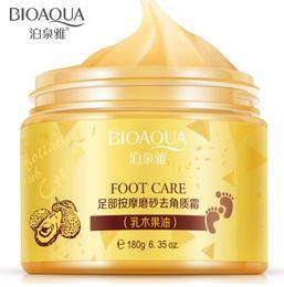 Wholesale BIOAQUA Foot Care Massage Cream Peeling Exfoliating Whitening Moisturizing Foot Spa Beauty Remove Dead Skin Foot Cream