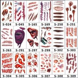 Шрамы татуировки декор наклейки Хэллоуин серии наклейки поддельные струп макияж партии ужас раны страшно доказательство воды Пастер 0 38cg jj