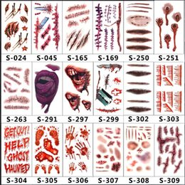 Water proof stickers online shopping - Scars Tattoos Decor Sticker Halloween Series Stickers Fake Scab Makeup Party Horror Wound Scary Water Proof Paster cg jj
