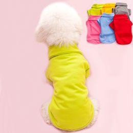 $enCountryForm.capitalKeyWord NZ - pet T shirts summer solid dog clothes fashion classic Tshirts polyester dog puppy small dog clothes cheap pet apparel