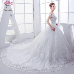 63c71bdf653 Popodion wedding dress plus size pregnant woman lace vestido de noiva  WED90458