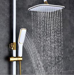 5 têtes de douche carrée en or et en noir en Solde