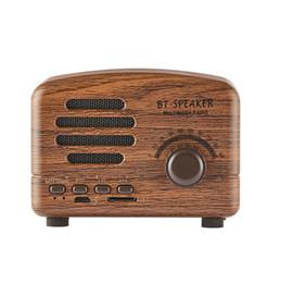 Mobile Interfaces UK - HiFi Retro Wireless Bluetooth Speakers Radio BT01 New Retro Cute Mini Bass With TF Card Interface Bluetooth V4.2 Speaker Innovative Gif