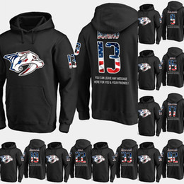 usa ice hockey jersey xxl Australia - Mens Nashville Predators USA Flag Hoodie 13 Nick Bonino 22 Kevin Fiala 33 Viktor Arvidsson Hockey Sweatershirt Jerseys Black S-XXXL