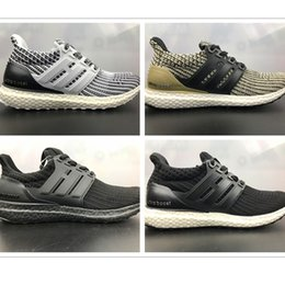 3d54a0133 2017 Ultra Boost 4.0 shoes Triple Black Primeknit Mens Running Shoes Womens ultraboost  Athletic Sport Sneaker High Quality Size 36-45