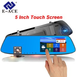 Rearview Screen NZ - Car DVR Camera 5 inch Touch Screen Dual Lens Rearview Mirror Video Recorder FHD 1080P Automobile DVR Mirror Dash cam
