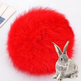 Red Rabbit Toy UK - 8CM Real Rabbit Fur Ball Keychain Pompom Fluffy Lovely Key Chain KeyRing Cute Pom Pom Porte Clef For Women Bag Charm Toys