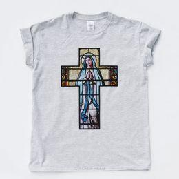 Chinese  CRUCIFIX MARY T SHIRT Rome Vintage Church Saints Goth Indie Jesus Hip Hop Rap TClassic Quality High t-shirt manufacturers