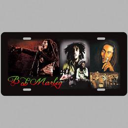 Paint Art 3d NZ - Bob Marley Pop Star Super Hot 3D Emboss Retro License Plates Vintage Tin Sign Art Wall Plaque decor Home Metal Painting Bar Pub