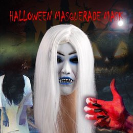 $enCountryForm.capitalKeyWord Australia - Halloween Horror Mask White Haired Witch Masquerade Mask Adult Theme Party Performance Props