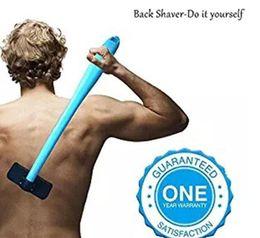 Back Hair Men Australia - New Shaving For Men Manual Back Hair Shaver Plastic Long Handle Razor For All Body Parts Hair Blade Remover Razors 200Pcs