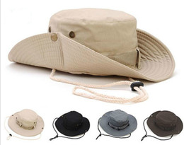 Flat brimmed hats For girls online shopping - New Arrival Casual Ourdoor Sunshade Hat Cap Homburg Travel Fishing West Cowboy Fashion Bucket Hats For Men