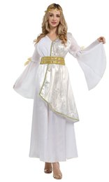 goddess costume women Canada - Shanghai Story Halloween White Egyptian princess queen costume Greek goddess dress Sexy Roman Queen Cosplay for women