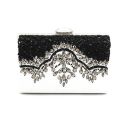 Wedding Branded Purses Canada - Women Luxury Evening Bags Brand Designer Ladies Day Clutches Wedding Clutch Purse Handmade Beading Sisters Party Handbags