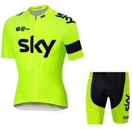 Promotion Tour De France Sky Team Jerseys Bike Wear cycling jersey Short  sleeve cycling tights + bib pants cycling skinsuit sale b40b7ab01