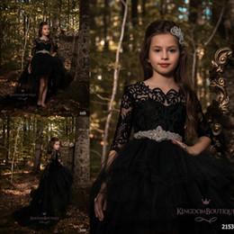 0853d19799ab04 Cheap hi tops online shopping - Black Princess A Line Tulle Girls Pageant  Dresses Half Long