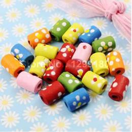 $enCountryForm.capitalKeyWord UK - 200pcs lot Wholesale Colorful Lead-free Cylinder Wood Beads for Bracelet Necklace 10x7mm Hole:3mm(K01673)