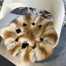 2b2302ffacb 5 Fotos Real fur cushions en venta-2018 Nuevos productos Red Fox Fur Sofa  Floor Round Cushion