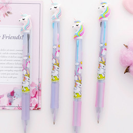 Plastic ballPoints Pens online shopping - Unicorn Ballpoint Pens Cartoon Chunky Ballpoint Pen School Office Supply Gift Stationery Papelaria Escolar plastic Markers GGA1226