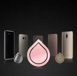 Handsets for ipHone online shopping - Hot Top Quality Water Drop Finger Ring Holder Universal Mobile Phone Ring Magnetic Stander With Retail Package For iPhone All Handset dhl