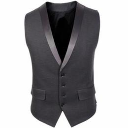 Small collar SuitS online shopping - Vests Cotton Fashion Suit Vest Men s Slim Suit Collar Small Vest Jacket Men Casual Suit Vest New Hot