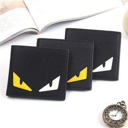 Funny coin purse online shopping - Little Monster Eye Funny Wallet Brand Designer PU Leather Purse Men Women Portable Clutch Bag Teenager Students Coin Purse