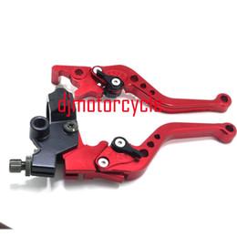 $enCountryForm.capitalKeyWord Australia - Aluminum ASV Red Folding Brake Clutch Levers For pit bike dirt bike Motocross motorcycle Atv