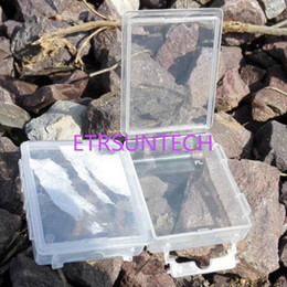 fishing hook holders 2019 - 6*4.5*1.5cm Transparent Plastic Box Bait Holder Fish Hook Storage Box Hardware Electronic Components Case QW7960 discoun